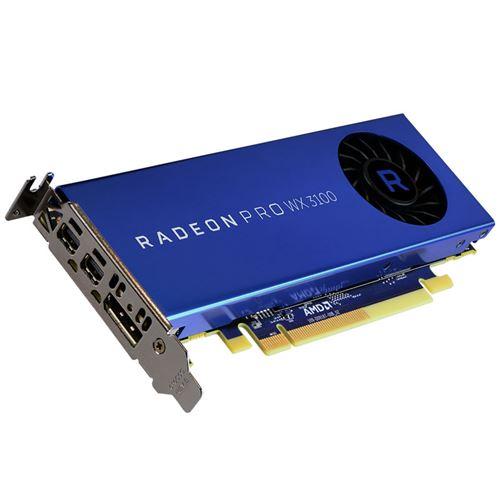 AMD Radeon Pro WX 3100. Processeur graphique famille : AMD. Processeur graphique : Radeon Pro WX 3100. Carte graphique distincte : 4 Go. Type de mémoire de l´adaptateur graphique : GDDR5. Mémoire Bus : 128 bit. Fréquence de la mémoire : 1500 MHz. Version