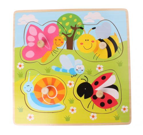 Jouéco forme puzzle insectes 4 pièces