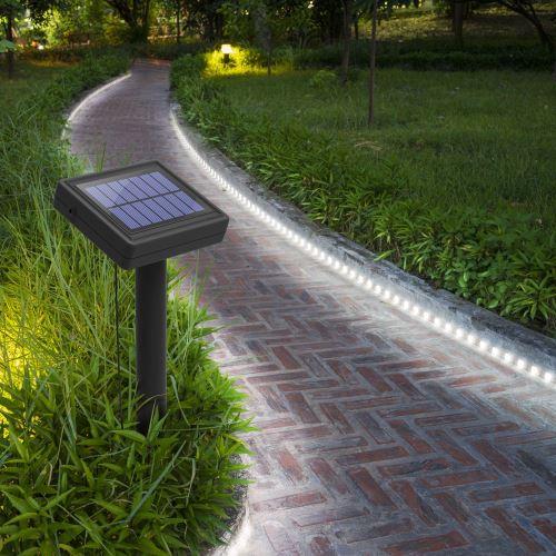 Balise strip LED solaire - 3m blanc -