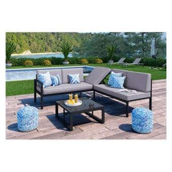 Loungitude salon de jardin 1 table basse + canape dangle avec ...
