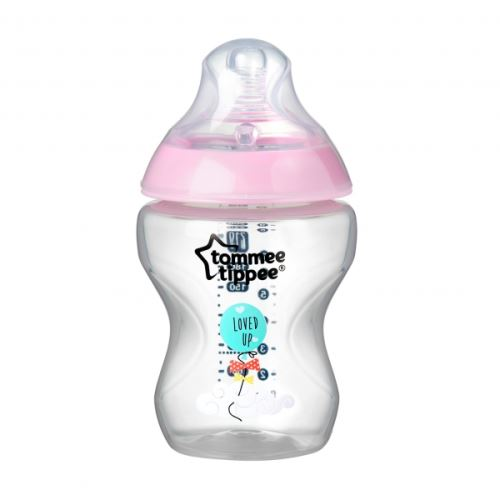 Biberon déco fille closer to nature 260ml - tommee tippee