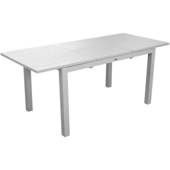 Table en aluminium avec allonge Trieste 180 cm Blanc - Mobilier de ...