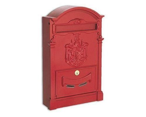 Alubox Boîte aux lettres, rouge - Residence