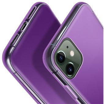 Coque Housse Etui Silicone pour Apple iPhone 11 Violet Transparent