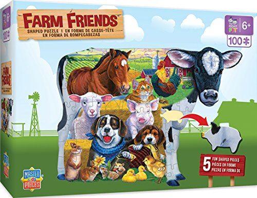 MasterPieces Farm Friends Shaped - 100 Piece Kids Puzzle