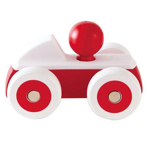 Hape voiture de course en bois 15 cm rouge