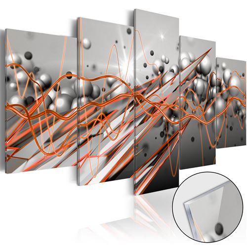 Tableau sur verre acrylique - Orange Stream - Artgeist - 200x100