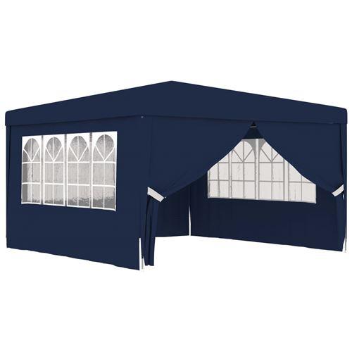 Tente de réception parois latérales - Bleu