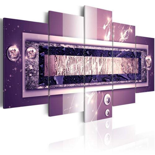 Tableau - Purple cascade .Taille : 100x50