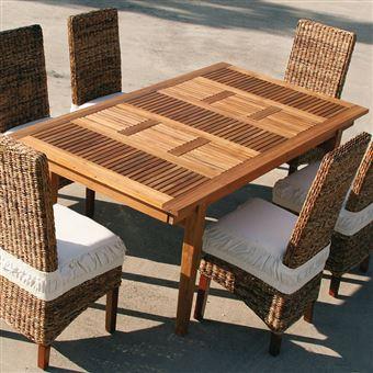 648€53 sur Nouvomeuble - Table de jardin extensible en bois carline ...
