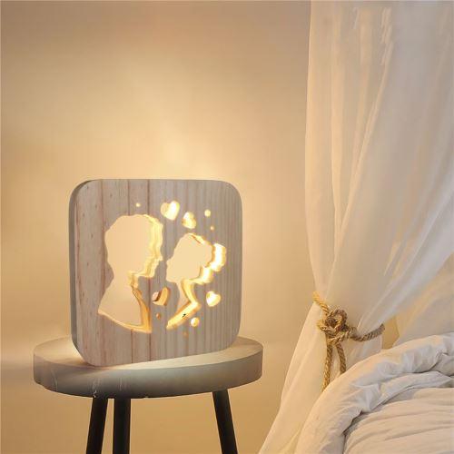 Creative Craft Décoration Lampe en bois Led Lumière Veilleuse Lampe de table wedazano452