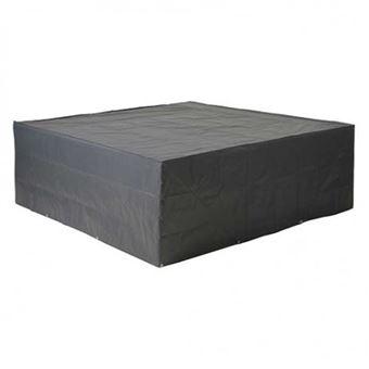 Housse de protection salon bas de jardin 250x250xH70 cm gris/noir ...