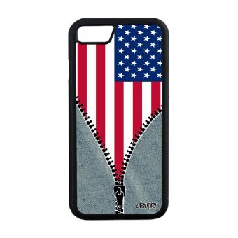 Coque silicone iPhone 7 drapeau etats unis usa americain NFL telephone jo Apple