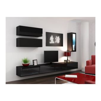 Meuble Tv Design Suspendu Bini Noir