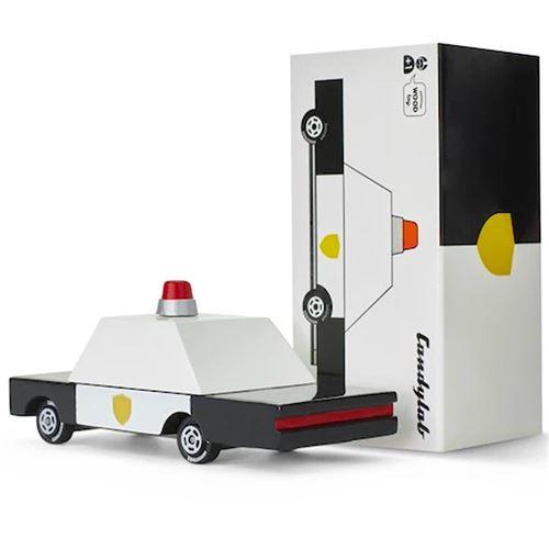 Petites voitures et mini modèles rétro classiques en bois Candylab Candycar Véhicules design pour enfants et adultes - Police Car CND F871