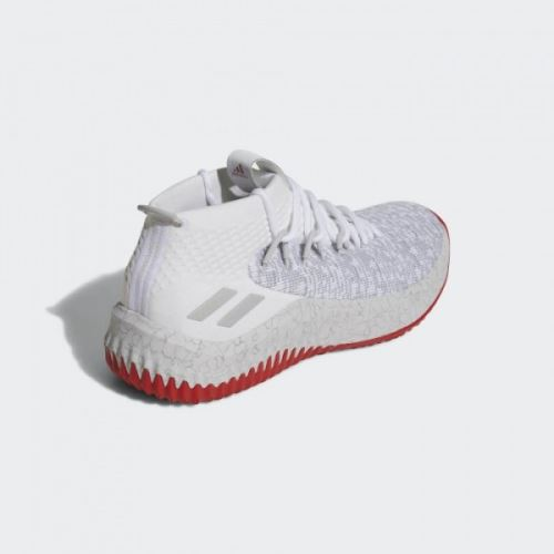 Chaussures de Basketball adidas Dame 4 Blanc et rouge pour