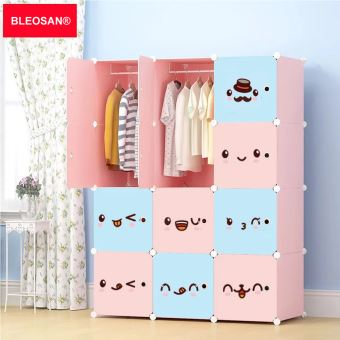Armoires etag res plastiques enfants 12 cubes rose bleosan armoires meubles de rangement pour - Meuble de rangement pour jouet ...