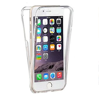 Mitars Coque en Silicone pour iPhone 7 iPhone 8 360 Degres de Protection 2 en 1 Avant Arriere Transparent Souple TPU Gel Etui Anti Scratch Full Body Cover pour iPhone 7 8 4 7 Clair