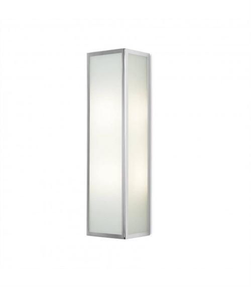 Applique Flow, chrome et verre, rectangulaire 40 cm