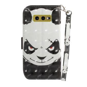 Etui En Pu Stand Spot Lumineux Décor Panda En Colère Pour Votre Samsung Galaxy S10e