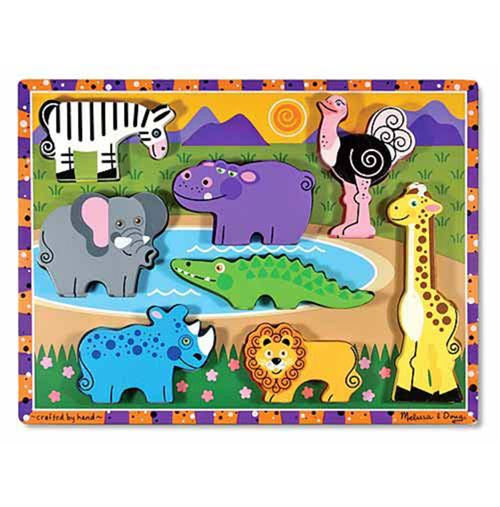 Melissa & Doug Safari Chunky puzzle 8 pièces