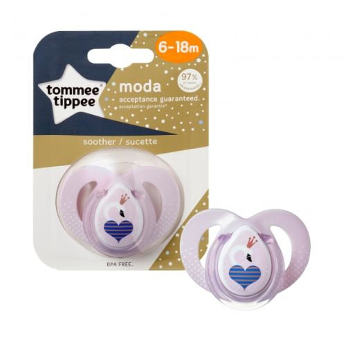 Sucette closer to nature moda 6-18m fille - tommee tippee