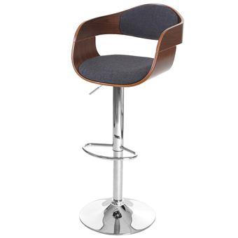 Tabouret De Bar Carlow Chaise De Comptoir Design Retro Bois De