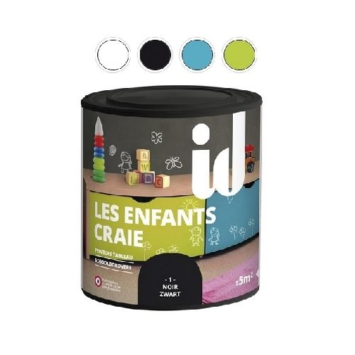Peinture Les Enfants Craie Noir 500ml- Id Paris