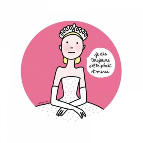 Assiette princesse enfant s'il te plait merci - petit jour paris