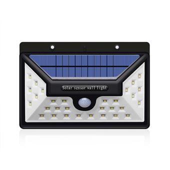 Finether 30 LED Lampe solaire murale Applique 3.7V 2200mAH étanche ...