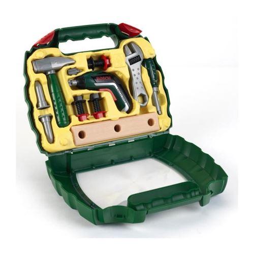 bricolage - etabli - outil bosch - mallette vitrine bosch avec visseuse ixolino ii pour enfant