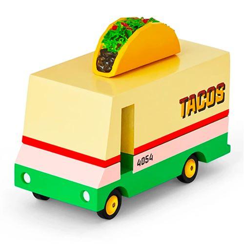 Petites voitures et mini modèles rétro classiques en bois Candylab Candycar Véhicules design pour enfants et adultes - Taco Van CND F767