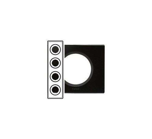 Plaque Céliane - Verre piano - Quadruple horizontale / verticale 71mm