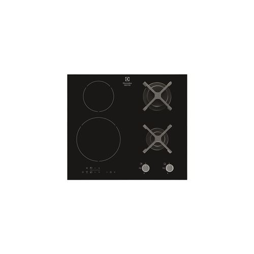 Electrolux table: mixte induction - largeur (mm): 590 - 2 foyers gaz + 2 foyers in