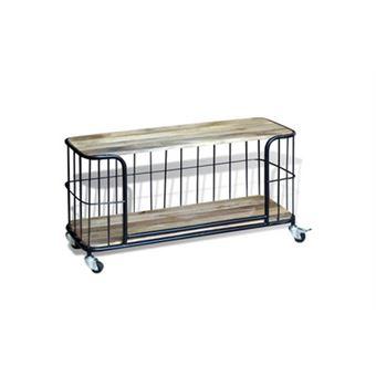 vidaxl meuble tv 100 x 40 x 45 cm bois de manguier massif meuble pour tlvision achat prix fnac