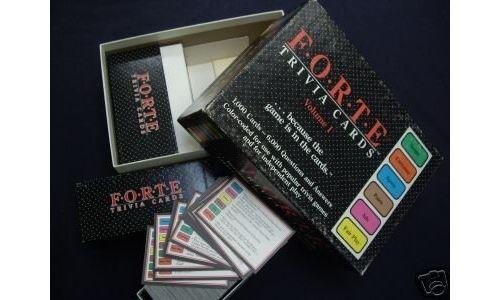 Jeu de cartes Forte Trivia, Vol 1 6 000 Questions Réponses