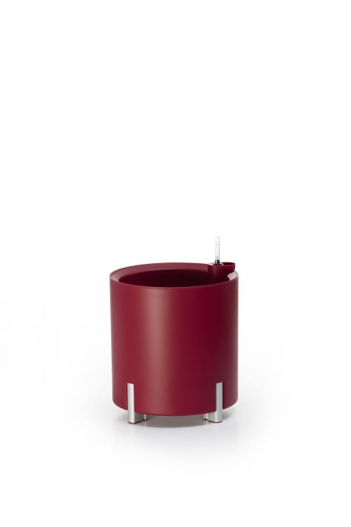 Jardinière ronde arrosage automatique rouge | MONDUM Mediterraneo