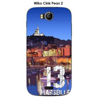 Coque Wiko Cink Peax 2 design Marseille le port