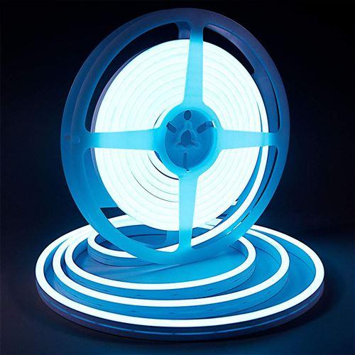 Bande lumineuse LED Silicone souple couleur néon étanche DC 12V 5m -Bleu