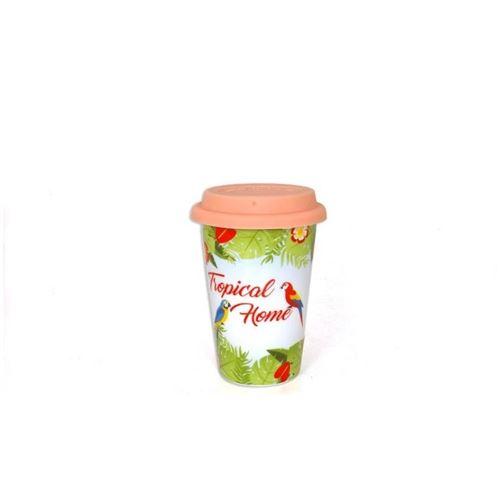 Mug de transport Tropical - 400 ml - Porcelaine
