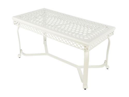 Table basse de jardin Saint-Tropez Blanc cassé - Jardideco