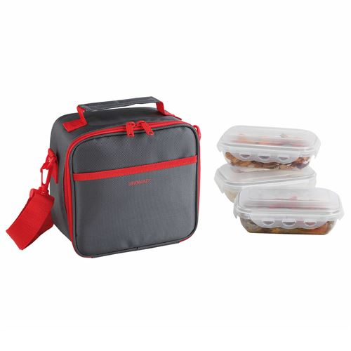 Set sacoche lunch box rouge gris et rouge be nomad sep122r