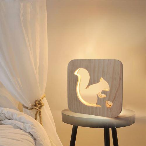 Creative Craft Décoration Lampe en bois Led Lumière Veilleuse Lampe de table wedazano457
