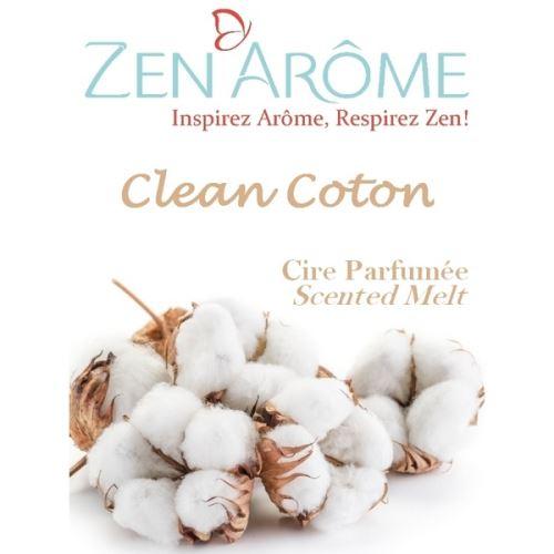 Cire parfumée senteur clean coton - blanc