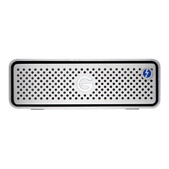 G-Technology G-DRIVE - Vaste schijf - 4 TB - extern (bureaublad) - USB 3.1 Gen 1 / Thunderbolt 3 (USB-C aansluiting) - 7200 tpm - zilver
