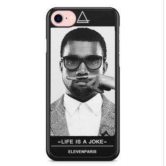 Coque iPhone 7 et iPhone 8 Kanye West Eleven Paris Life is a Joke Moustache