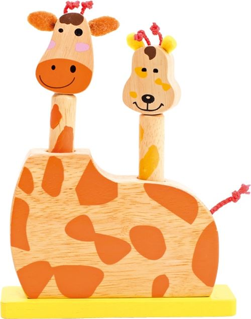 Small Foot jouets à sauter Girafes 20 cm jaune/orange