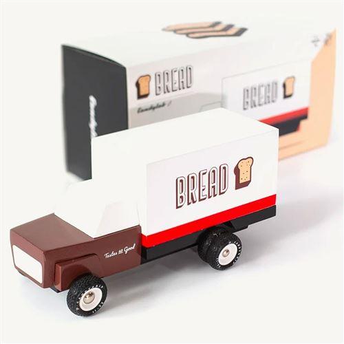 Petites voitures et mini modèles rétro classiques en bois Candylab Truck Véhicules design pour enfants et adultes - Bread Truck TK BRD