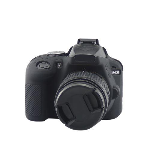 En Caoutchouc Souple en Silicone Coque Couvercle de Protection pour Nikon D3400 Caméra Sac Tampon Xj