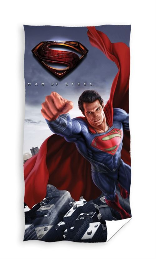 Marvel Serviette de bain Superman bleu 140 x 70 cm